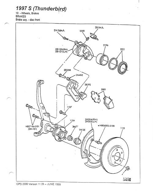 lincoln mark viii rear brakes
