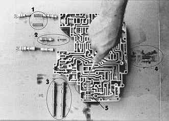 this photo outlines the rest of the modifications performed on the valve  body: